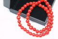 Free Red Coral Beads Royalty Free Stock Image - 8837246