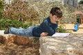 Free Boy Reading Royalty Free Stock Photos - 8837858