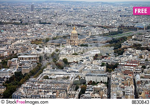 France, Paris: nice aerial city view montparnasse Stock Photo