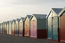 Free Colored Wooden Beach Huts Stock Photo - 8830150
