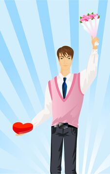Free Man Gives The Heart Stock Photo - 8830190