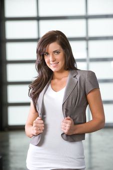 Free Business Woman In A Modern Office Stock Image - 8830201