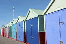 Free Colored Wooden Beach Huts Royalty Free Stock Photos - 8830248