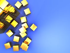 Free Golden Cube Stock Photos - 8830903