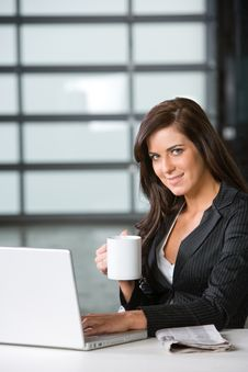 Free Business Woman In A Modern Office Stock Photos - 8831313