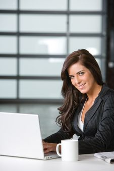 Free Business Woman In A Modern Office Royalty Free Stock Photos - 8831348