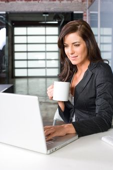 Free Business Woman In A Modern Office Royalty Free Stock Photo - 8831635
