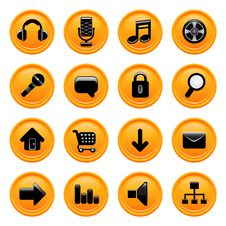 Free Web Icons Vector Royalty Free Stock Image - 8832426