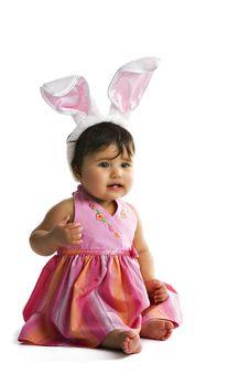 Baby Bunny Ears Stock Image