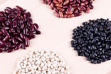 Different Haricot Beans Stock Images