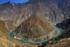 Free Jinsha Jiang River Huge Natural Curve Royalty Free Stock Photos - 8834918