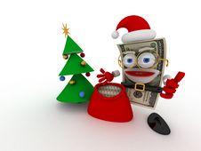Free Dollar Santa Stock Photography - 8835642