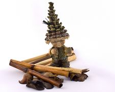 Free Wooden Gnome Decorated Royalty Free Stock Image - 8836156