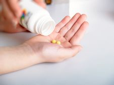 Free Yellow Tablets Stock Photo - 8836250