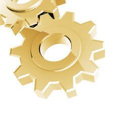 Free Golden Gear Royalty Free Stock Photo - 8836275