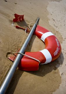 Free Safety Bouy Royalty Free Stock Image - 8836726