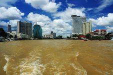 Free Bangkok Panorama From River Stock Photo - 8836760