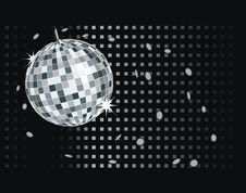 Free Vector Disco Balls For Disco Royalty Free Stock Photos - 8836978