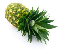 Free Ripe Pineapple Isolated On White Stock Image - 8837311