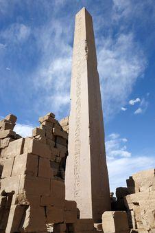 Free Obelisk Of  Karnak Stock Photography - 8837402