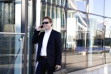 Free Executive Speaking On The Cell Phone Stock Photo - 8837530
