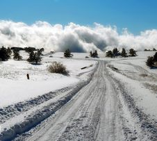 Free Winter Road Royalty Free Stock Photography - 8838327