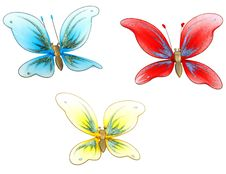Set Of Butterfly Decoration Toys Stock Photography