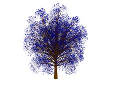 Free Blue Tree Stock Images - 8839774