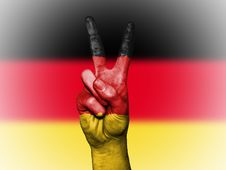 Free V Sign And Flag Of Germany Stock Photo - 88328310