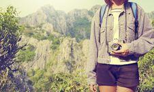 Free Traveler With Camera Stock Photo - 88328550