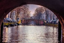 Free Under Canal Bridge, Amsterdam, Netherlands Royalty Free Stock Images - 88329259