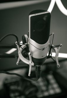Free Microphone On Stand Royalty Free Stock Photos - 88329528