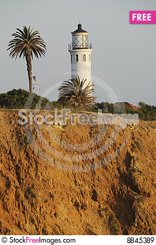 Point Vincente Lighthouse Stock Photo