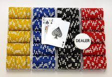 Free Racks Of Poker Chips Stock Photography - 8841592