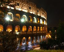 Colosseo At Night, Rome Royalty Free Stock Photography