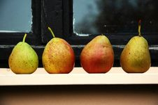 Four Pears Royalty Free Stock Photography