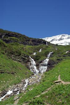 Free Waterfall At Glacier National Park Royalty Free Stock Photo - 8841845