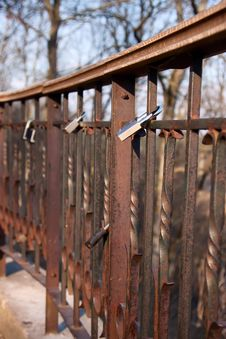 Free Padlocks Of Love On Bridge Stock Image - 8842201