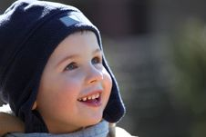 Free Boy With Blue Hat Stock Image - 8842421