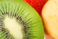 Free Close-up Kiwi And Apples Stock Image - 8843311