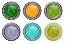 Free Round Buttons Royalty Free Stock Photo - 8843665