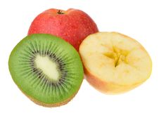 Free Kiwi And Apples Isolated Royalty Free Stock Photo - 8843985