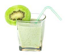Free Milkshake With Kiwi Stock Image - 8844141