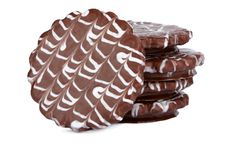 Free Stack Of Chocolate Cookies Isolated Royalty Free Stock Images - 8844409