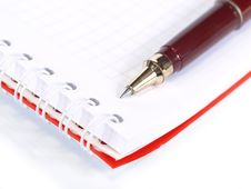Free Notepad And Pen Stock Photo - 8844640