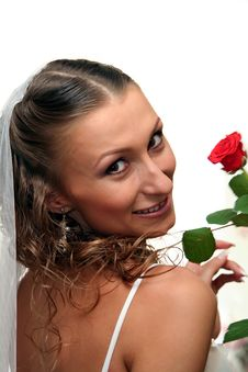 Free Bride With Rose Stock Photos - 8844853