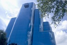 Free Blue Office Building Stock Image - 8845651