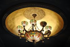 Free A Stained-Glass Chandellier Stock Photos - 8846523
