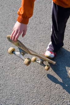 Teenager Skateboarding Royalty Free Stock Photography