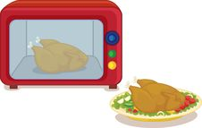 Free Microwave And Chicken Royalty Free Stock Photo - 8848005